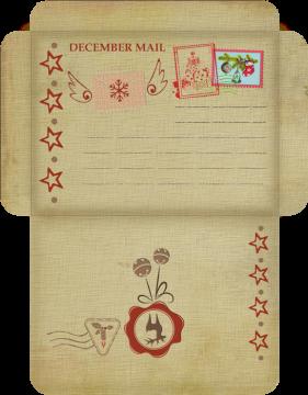 Weihnachten Neujahr Briefumschlag