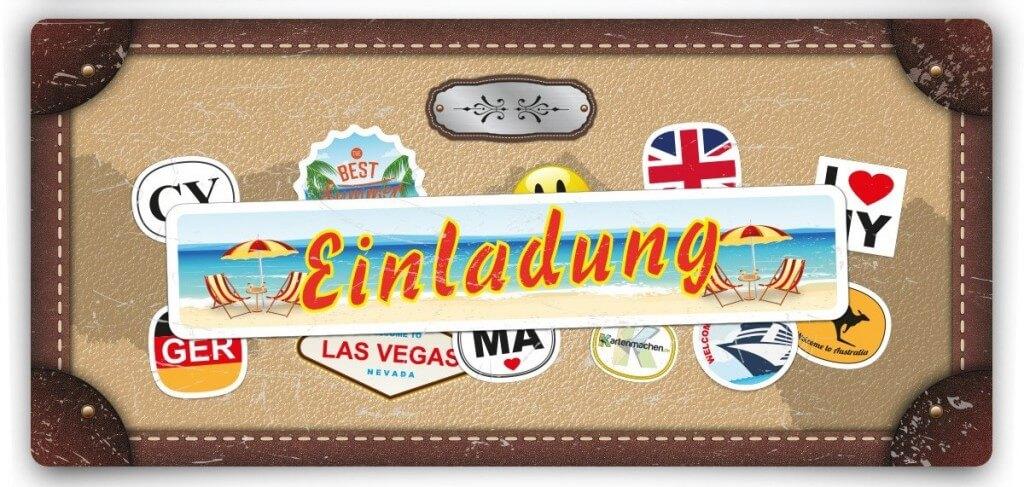 einladungskarten als reisekoffer