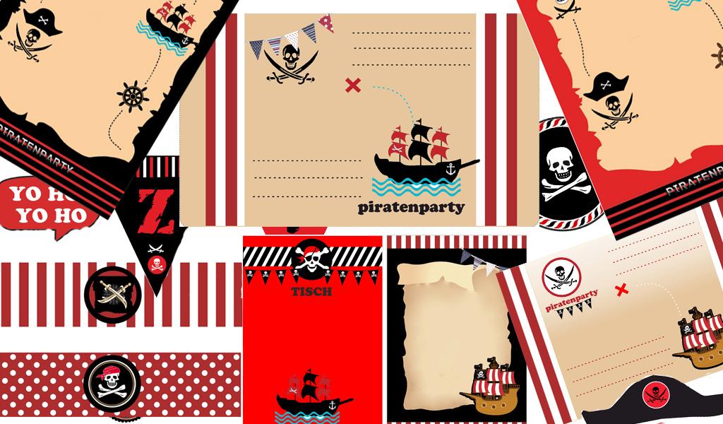 piratenparty zubehoer schatzsuche schnitzeljagd partyzubehoer kostenlos