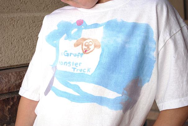 spass kinder basteln ideen kindergeburtstag Bemalte T Shirts