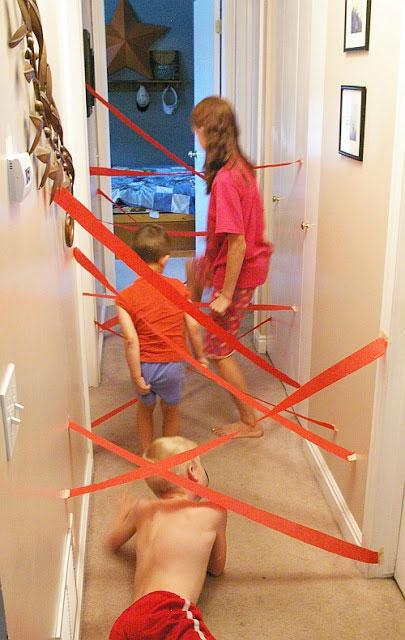 spass kinder basteln ideen kindergeburtstag Labyrinth