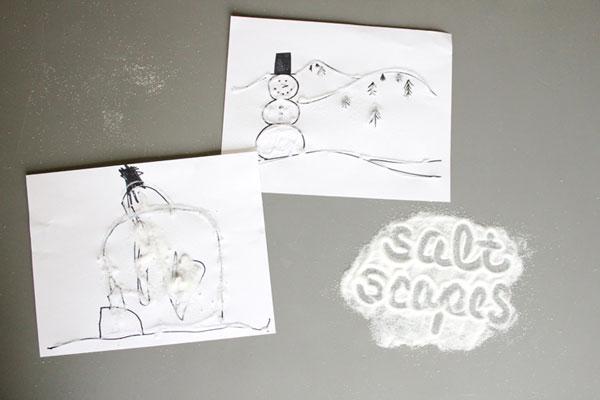 spass kinder basteln ideen kindergeburtstag Schnee Aktivit ten